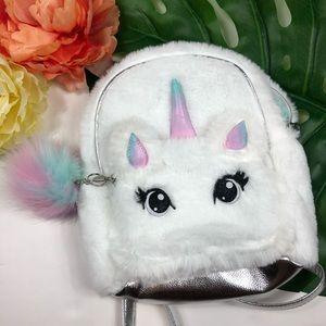 Justice girls unicorn mini backpack